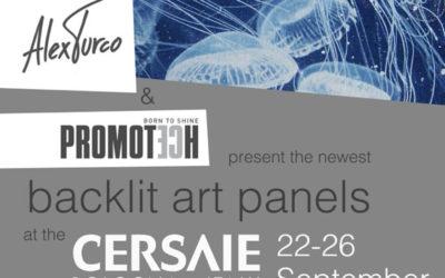 BACKLIT ART PANELS @ CERSAIE