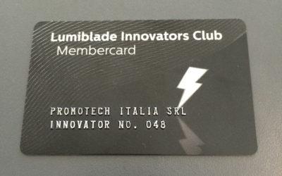 MEMBER OF THE LUMIBLADE INNOVATORS CLUB