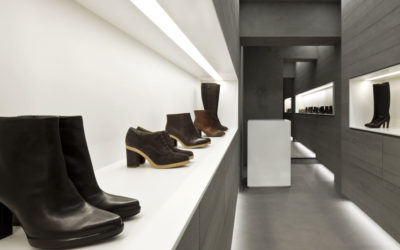 MINIMALISTIC BOUTIQUE LIT UP BY CUSTOM LIGHTING