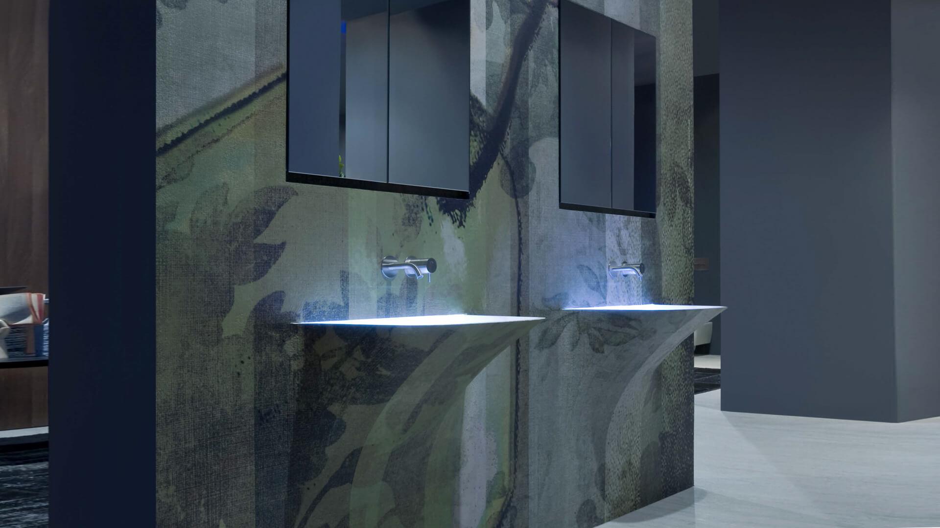 Luminous washing basins